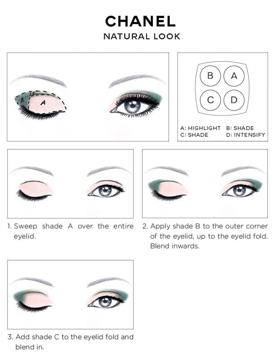 Схемы макияжа от шанель