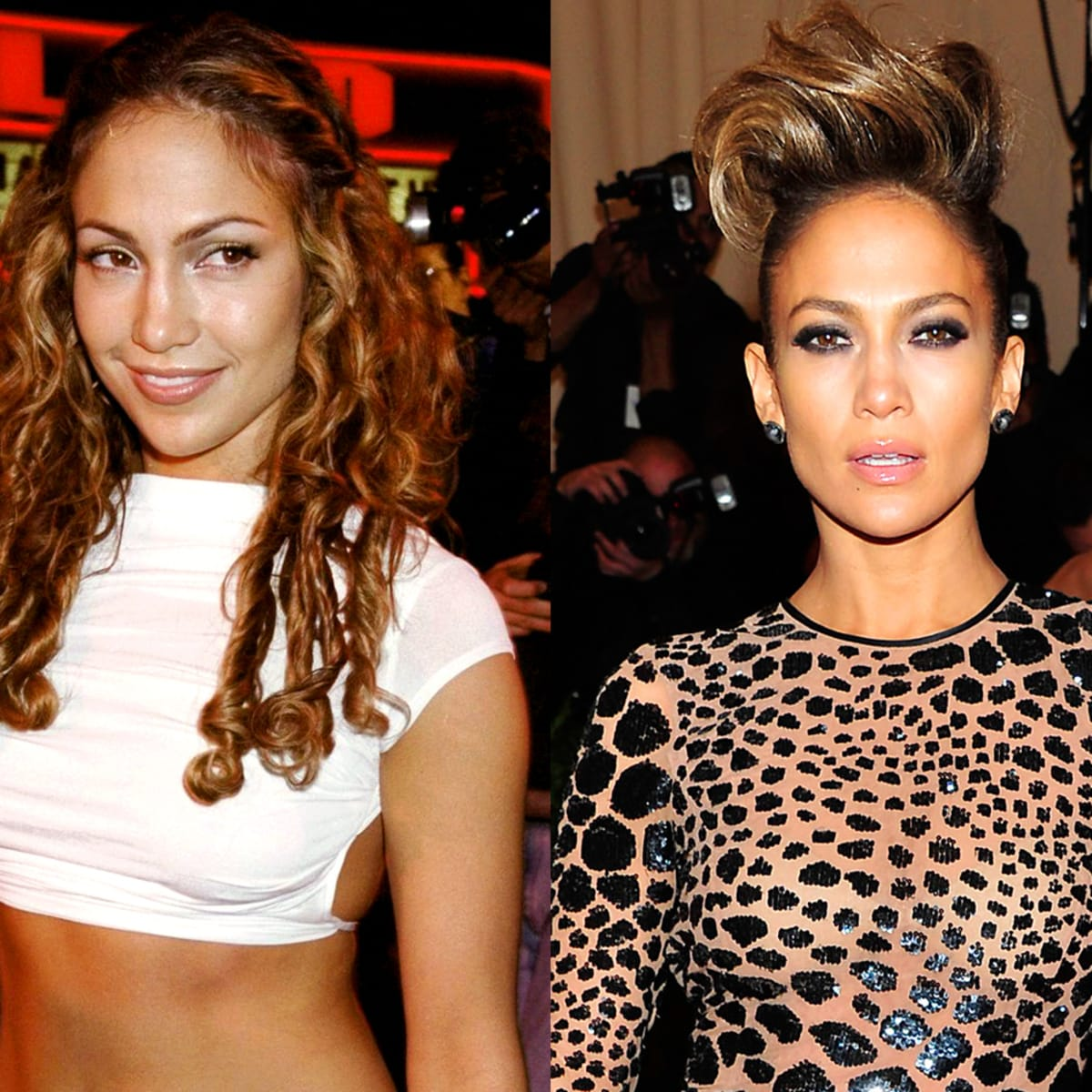 Compare Contrast Jennifer Lopez Then 1987 1990 1999 And Now 2013 Beautygeeks