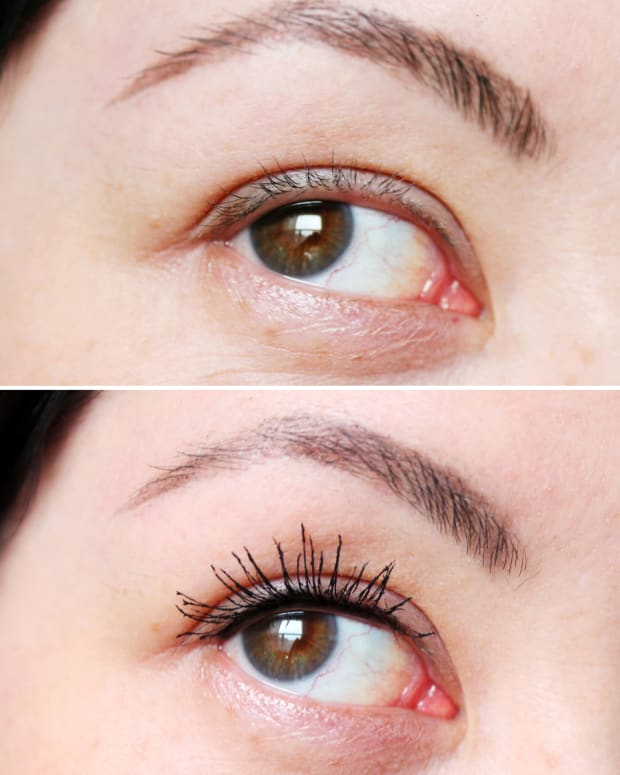 Miss Manga Mascara review_short lashes_before and after