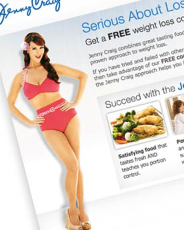 Jenny Craig website snap