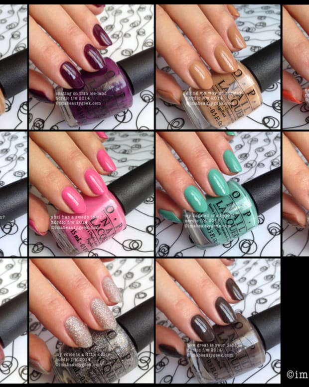 OPI Nordic Collection Swatches 2014