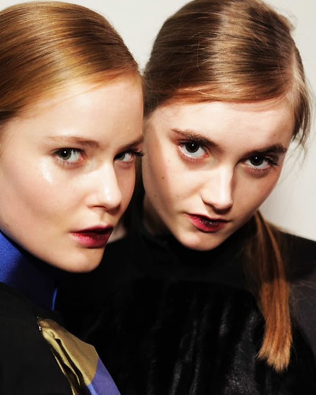 David Koma Fall 2012 makeup_Stila_London Fashion Week