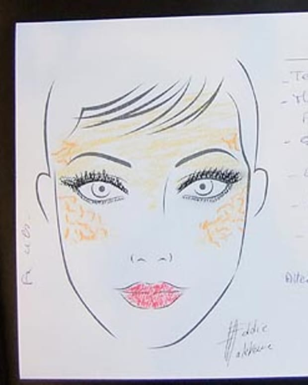 Eddie Malter Gaudet beauty sketch LGFW Fall 2010