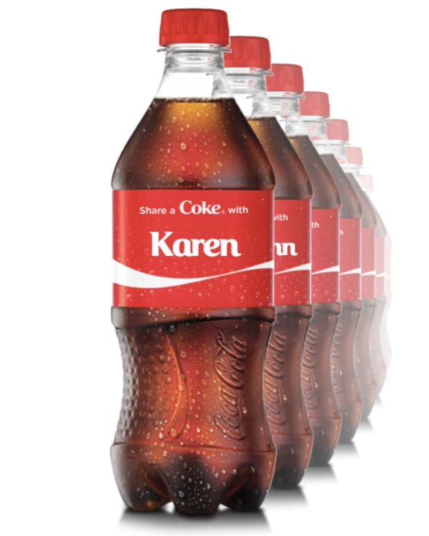 personalized coke labels_share a coke with Karen