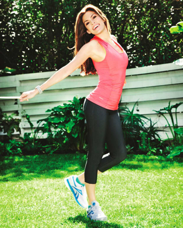 Eva Mendes in Reebok EasyTone apparel and footwear