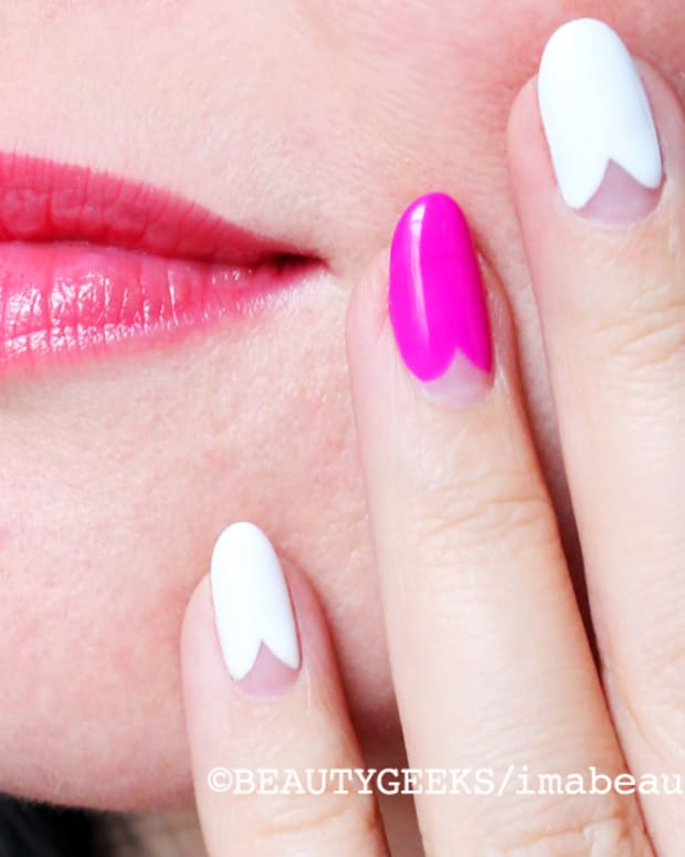the scalloped manicure_mani by Leeanne Colley at Tips Nail Bar