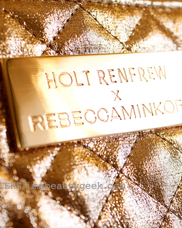 holt renfrew rebecca minkoff beauty bag gold holiday 2015