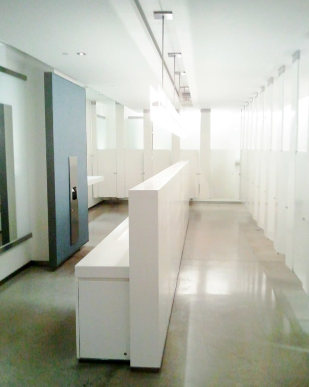 the ladies' room at The Royal Conservatory in Toronto