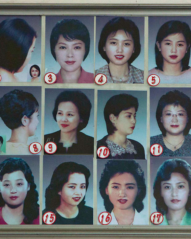 North Korean hairstyles in a salon