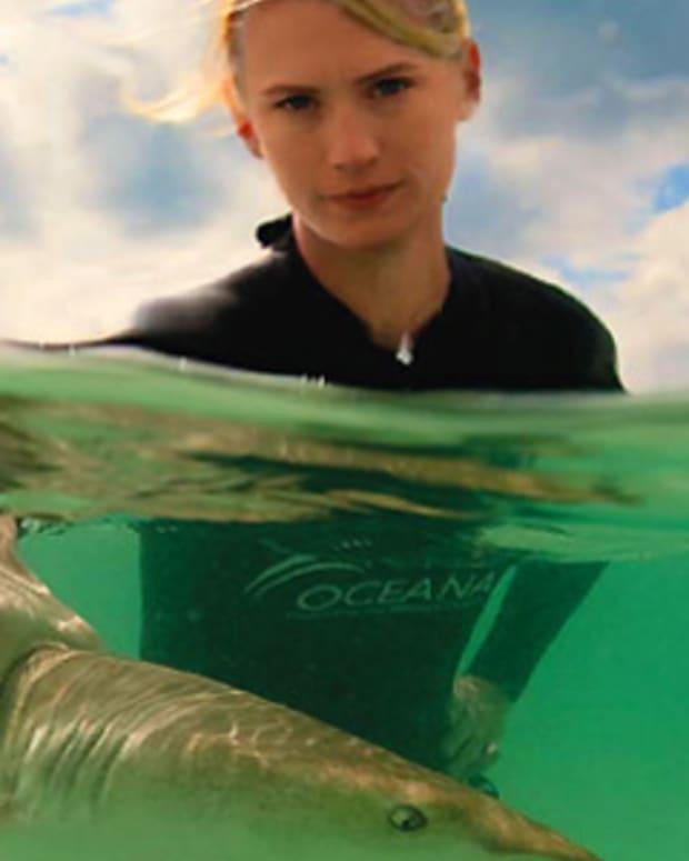 January Jones_Scared for Sharks_Oceana