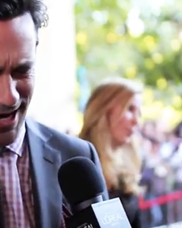 Jon Hamm_Friends w Kids_red carpet interview_TIFF 2011