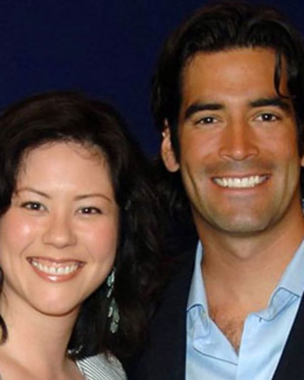Janine Falcon and Carter Oosterhouse