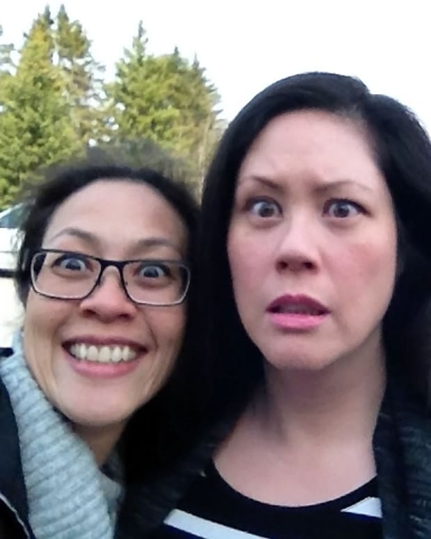 ambush selfie recreation with hilarious sister Karen Falcon