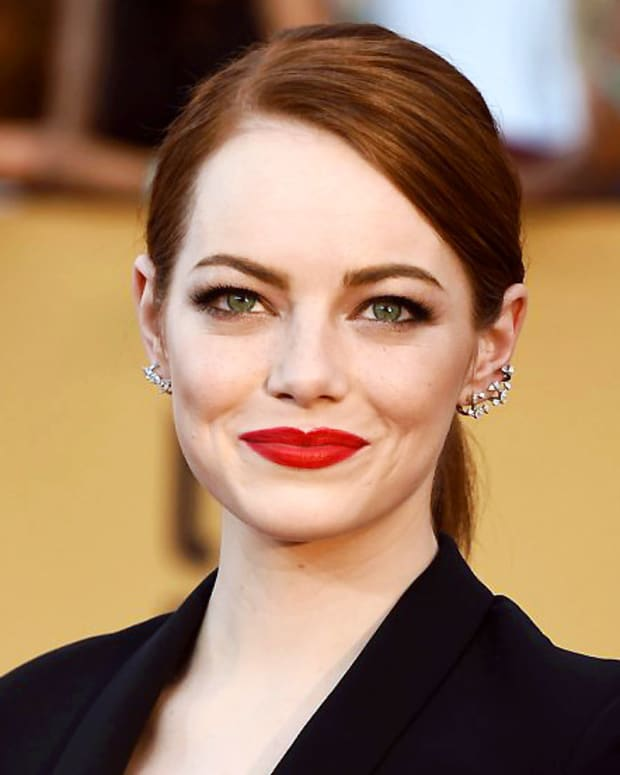 Emma Stone Red Lips SAG Awards 2015