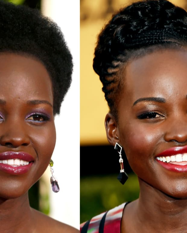 Lupita Nyong'o 2015 Golden Globes and SAG Awards makeup
