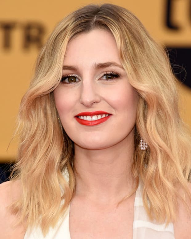 Laura Carmichael SAG Awards Makeup (AVON) and Hair (JOHN FRIEDA)