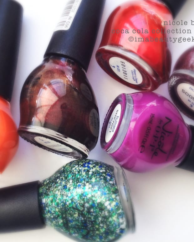 Nicole by OPI Coca Cola Collection Swatches 2015 Beautygeeks