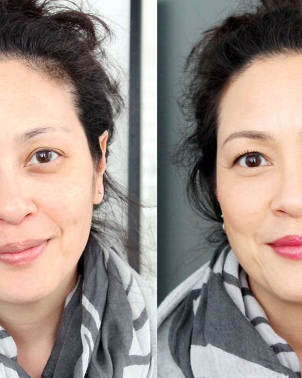 how to correct dark brownish circles_before & after