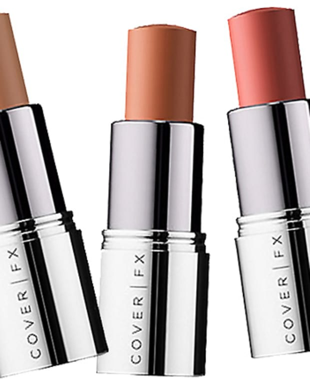 Cover FX Correct Stick for blue-toned circles and hyper-pigmentation in Peach, Orange and Brick