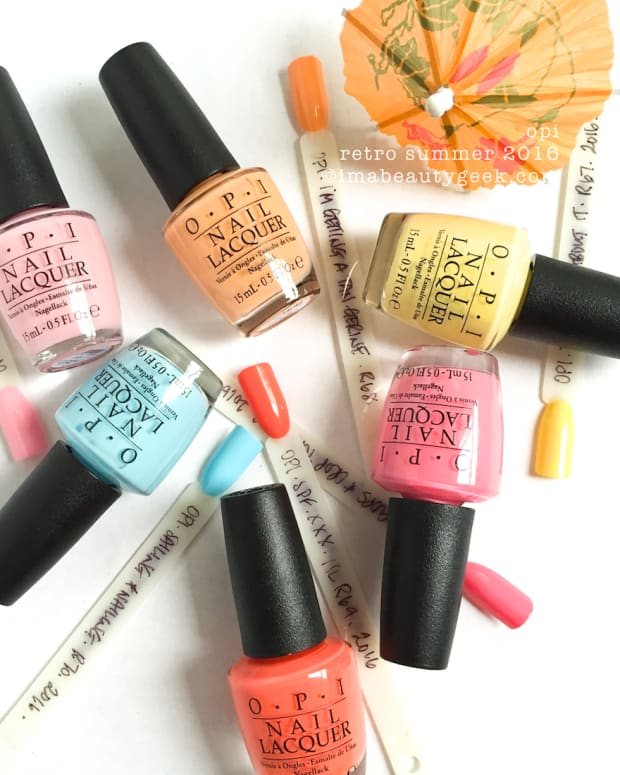 OPI Retro Summer 2016 Complete Manigeek Guide