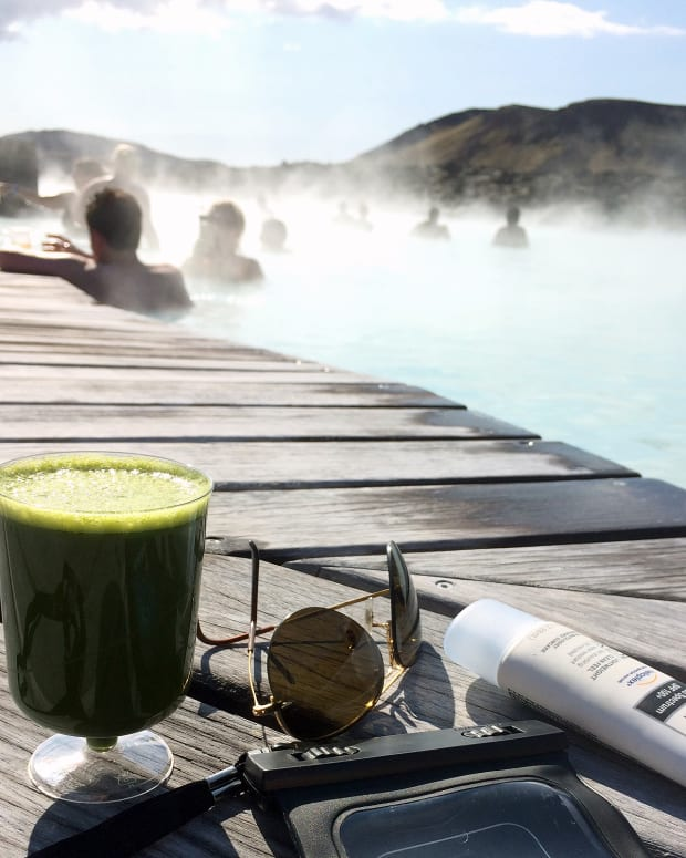 Neutrogena Ultra Sheer Dry Touch SPF 100+ sunscreen at Blue Lagoon, Iceland