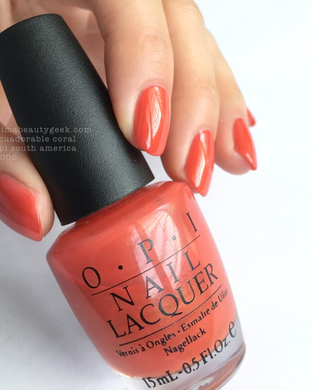 OPI Ecuadorable Coral South America Collection 2002