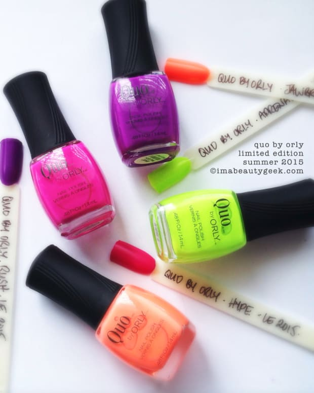 Quo by Orly Summer Neons 2015