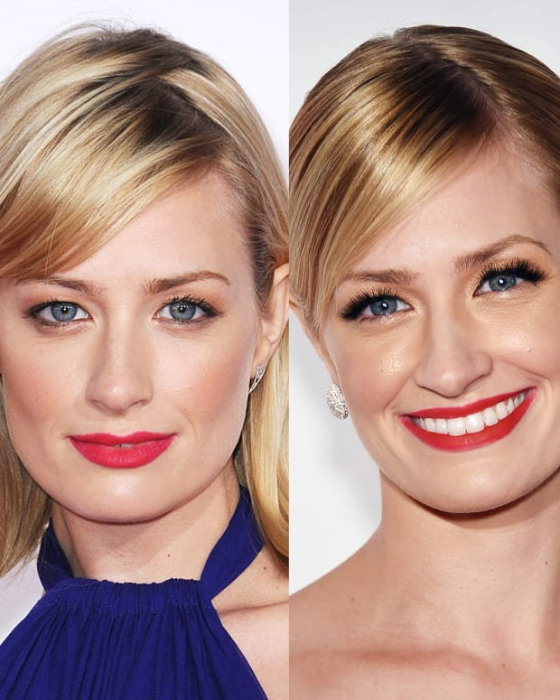 Beth Behrs makeup_comparison