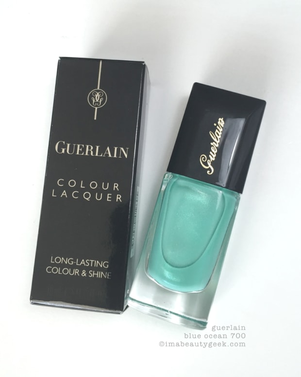Guerlain Blue Ocean 700 Nail Polish Swatched