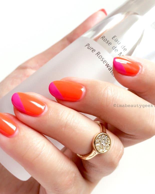 Gelish Tiki Tiki Laranga_Shellac Hot Pop Pink_ring, joe fresh