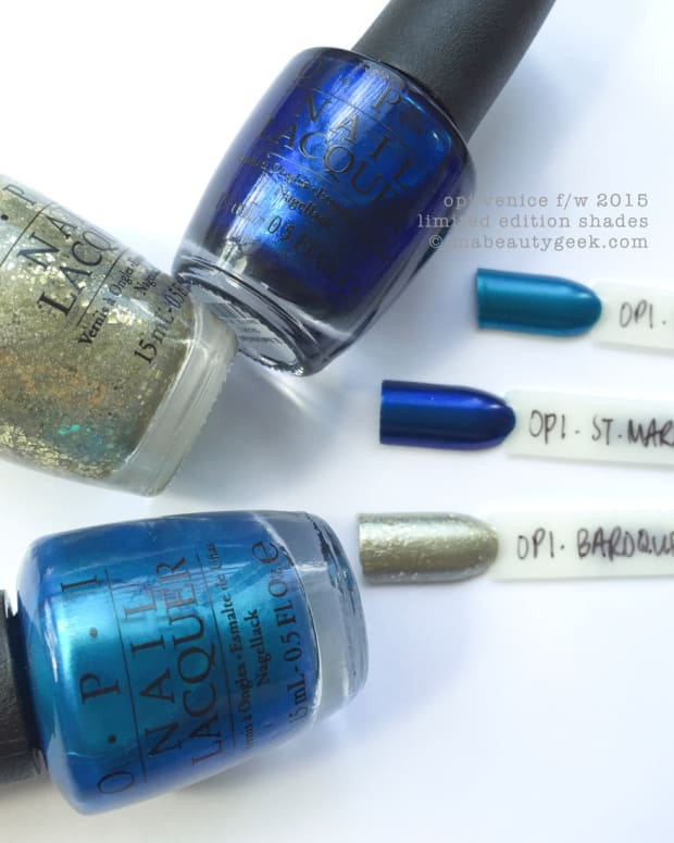 OPI Venice Limited Edition Swatches Comparisons