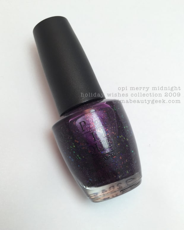 OPI Merry Midnight Manigeek notd