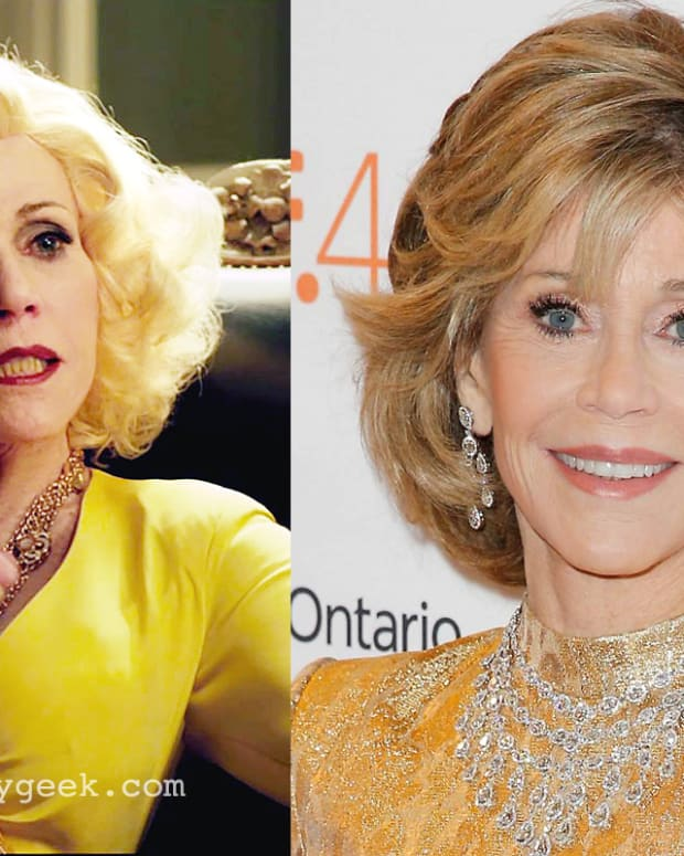 Jane Fonda makeup Youth movie vs red carpet