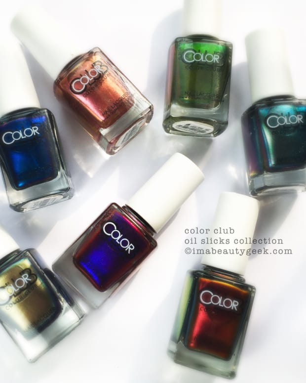 Color Club Oil Slick Collection Swatches and Review