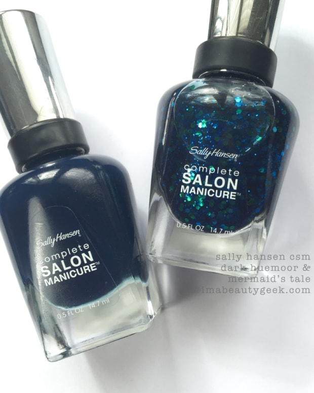 Sally Hansen Mermaids Tale over Sally Hansen Dark Huemoor_BGH