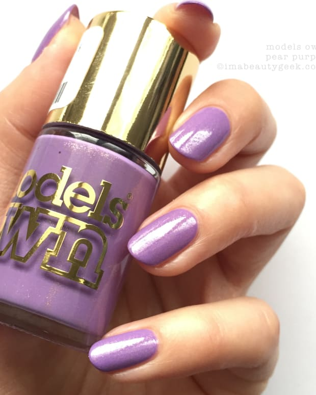 Models Own Pear Purple Swatches Review NOTD