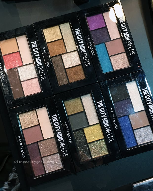 Maybelline The City Mini eyeshadow palettes; July 2017 in Canada
