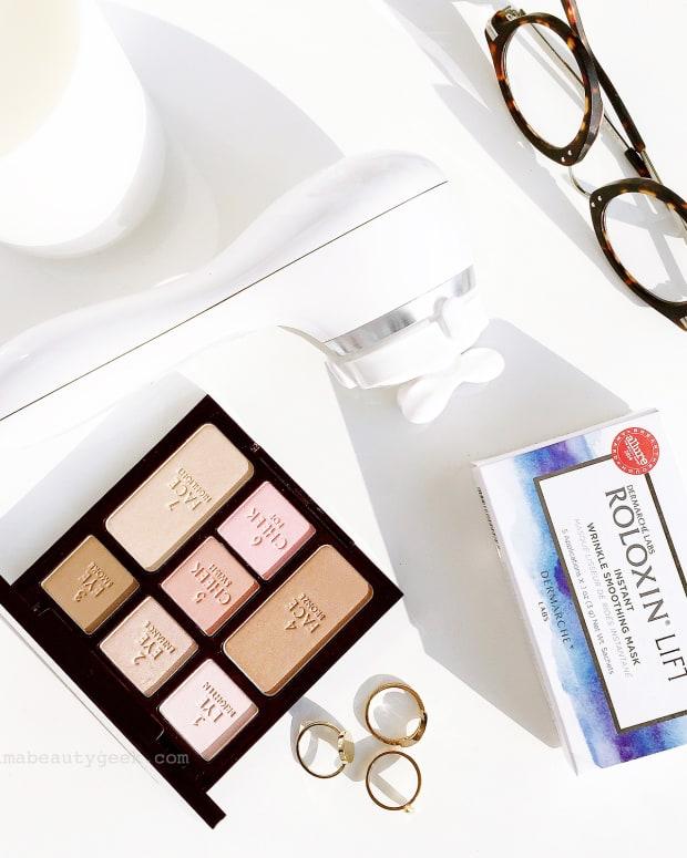 clarisonic uplift_dermarche labs roloxin lift_charlotte tilbury instant natural beauty palette