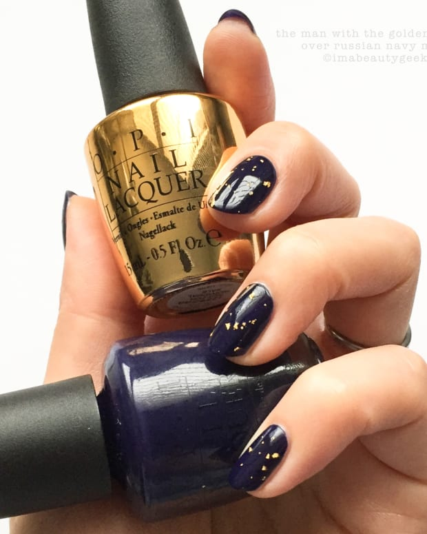 OPI The Man With The Golden Gun over Russian Navy Matte