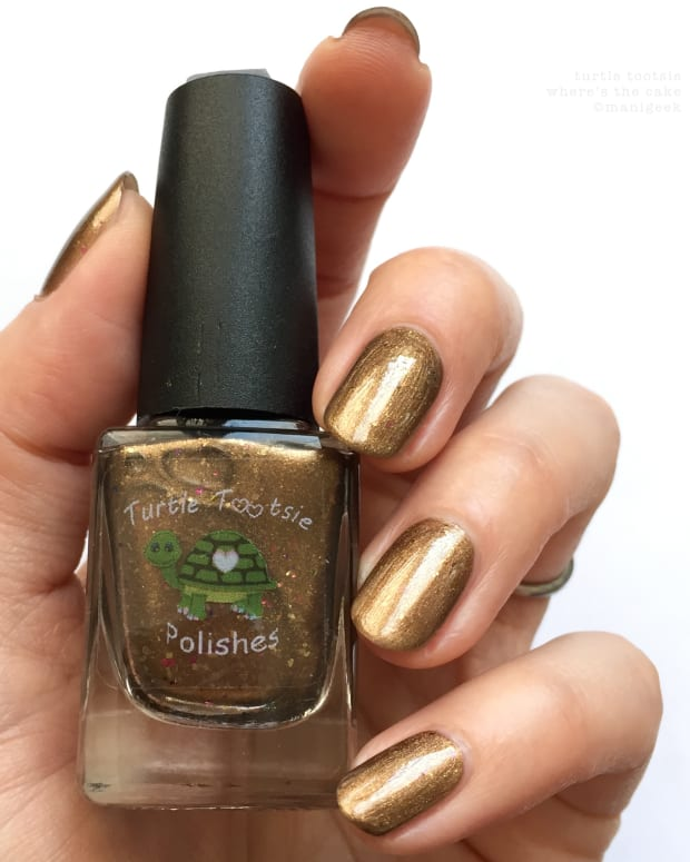 Turtle Tootsie Polish Where's the Cake NOTD _ H1