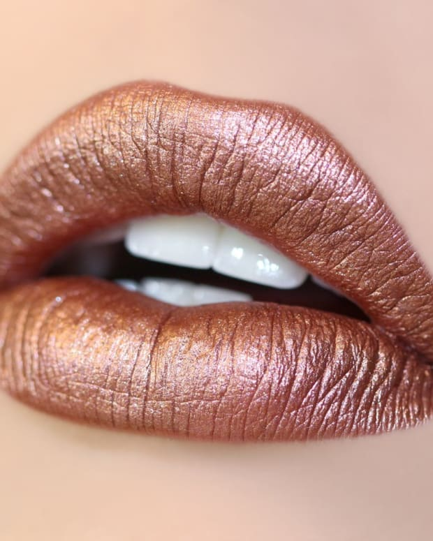 Colorpop copper metallic lipstick in Man Eater