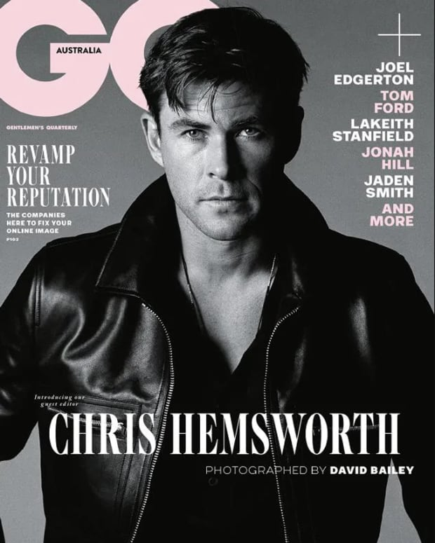 chris hemsworth cover gq australia nov 2018 issue