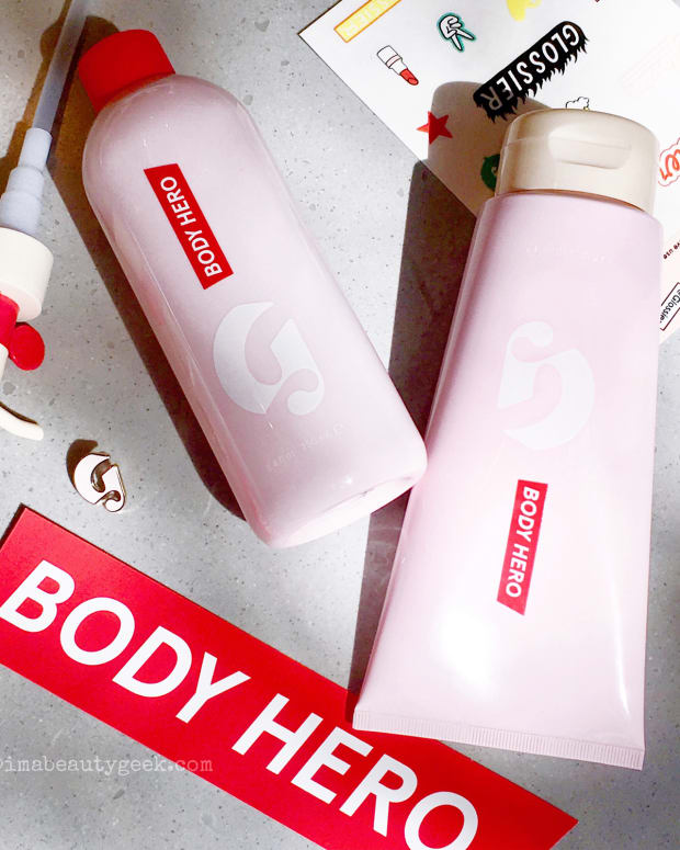 Glossier Body Hero Daily Oil Wash and Daily Perfecting Cream-BEAUTYGEEKS