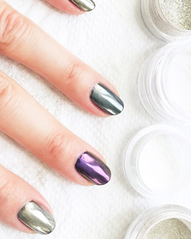 More chrome at home with a variety of regular nail polishes and chrome powders-BEAUTYGEEKS