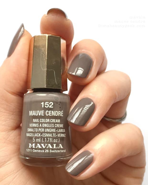 Mavala Mauve Cendre 152 Nail Polish Swatches NOTD