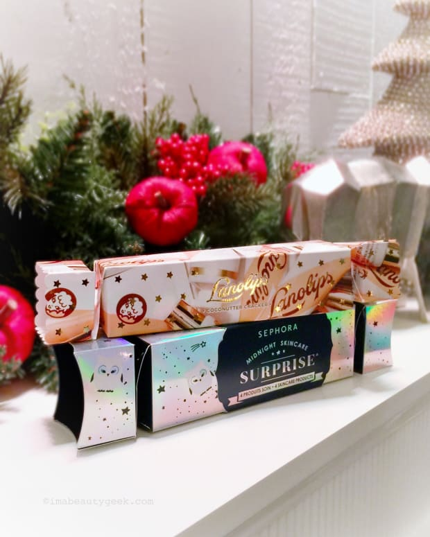 Beauty Holiday crackers or Christmas crackers 2018 from Lanolips and Sephora