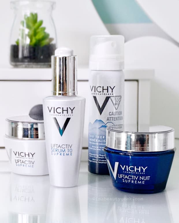 Vichy LiftActive Supreme serum and day cream and night cream