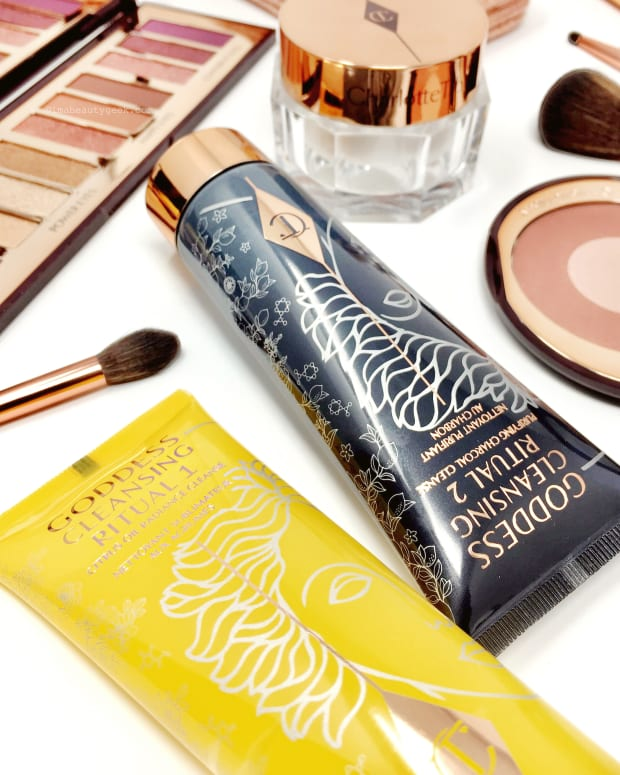 Charlotte Tilbury Goddess Cleansing Ritual Duo and makeup