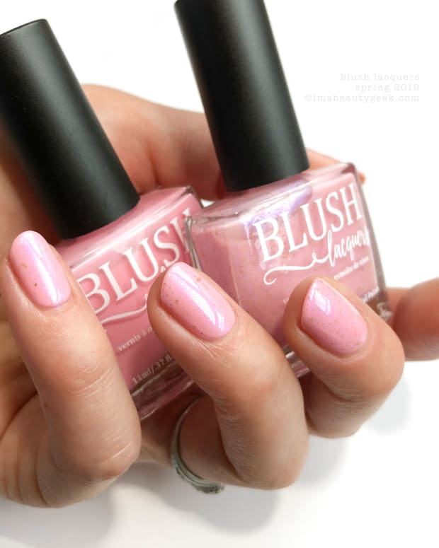 Blush Lacquers Candy Hearts & Double Rainbow Shimmers Collection Swatches & Review Spring 2019