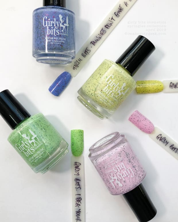 Girly Bits Cosmetics Springles Collection April 2019 Swatches Review